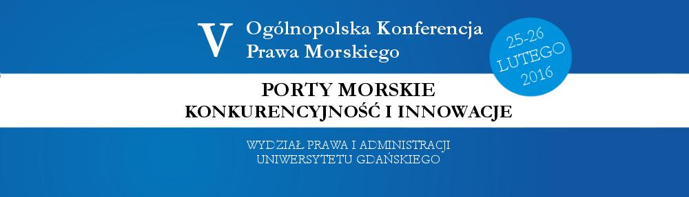 V Ogólnopolska Konferencja Prawa Morskiego